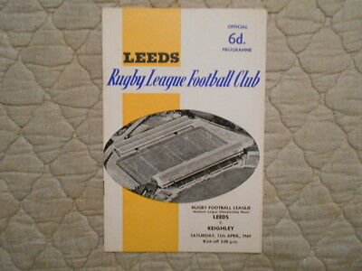 Leeds V Keighley Rugby League Match Programme 1969