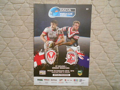St Helens V Sydney Roosters World Club Series Match Programme 2016