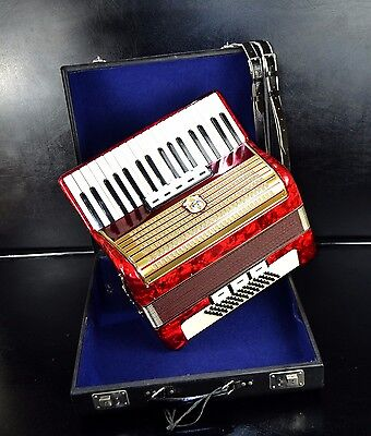 VINTAGE GERMAN TOP PIANO ACCORDION WELTMEISTER 60 bass,8sw.&CASE~NEWLY CONDITION