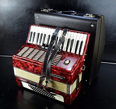 TOP GERMAN PIANO ACCORDION WELTMEISTER STELLA 60 bass, 8 registers+ORG.HARD CASE