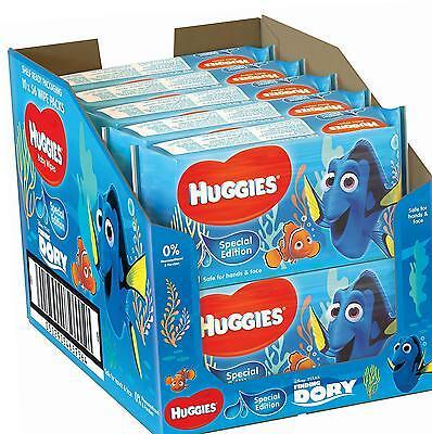 Huggies Aloe Baby Wipes, Special Edition Finding Dory 10 Packs (560 Wipes Total)