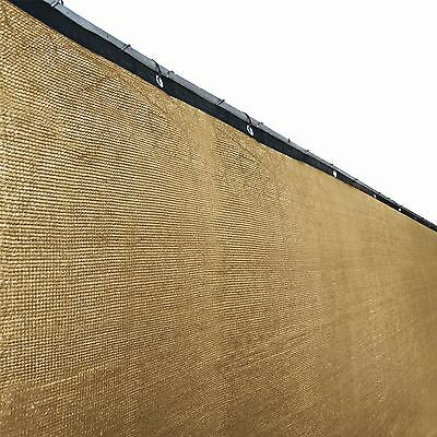 ALEKO Privacy Screen Shade Cover With Grommets 6x150 Ft Fence  Sand Color