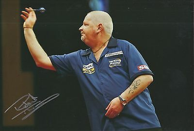 Robert 'The Thorn' Thornton Hand Signed 12x8 Photo Darts 1.