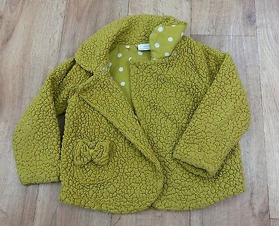 Next Girls Fleece Jacket Mustard Age 4-5
