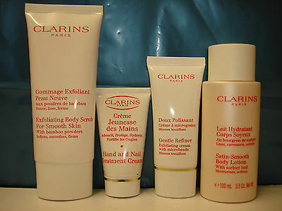 Special Offer Clarins 4 pieces Skin Care Gift Set   E