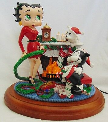 Collectible 2001 Danbury Mint Betty Boop Christmas Holiday Hearth Figurine FS!