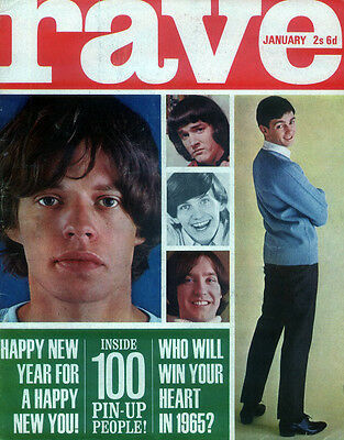 Rave Magazine Jan 1965 . Rolling Stones Mick Jagger . Beatles In Tahiti .not Nme