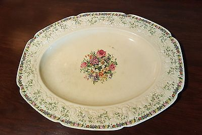 """Crown Ducal Made in England Florentine Ferncroft 14 1/8"""" Oval Platter"""