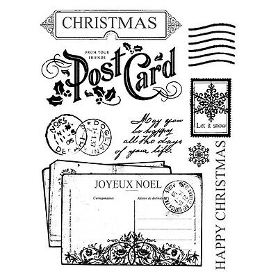 1 Stempelset Christmas postcards WTKCC50  14 x 18 cm by Stamperia