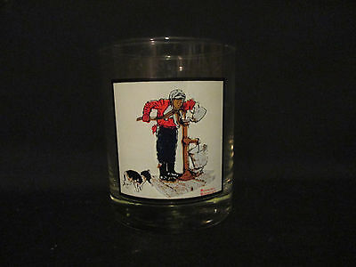 """Vintage Norman Rockwell Glass """"Chilling Chore"""" 1963 Pepsi 1979 Arbys"""