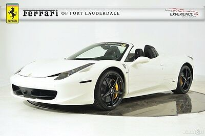 2014 Ferrari 458 Spider Leather Alcantara Sport Exhaust Carbon Fiber LED Shields Sensors HomeLink Stitch