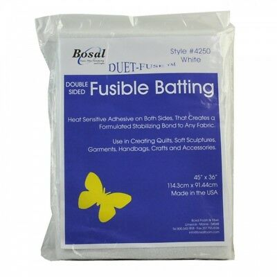 Bosal Double Sided Fusible Wadding 7oz 45in (114cm) X 36in (91cm) Packet[1]