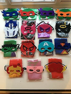 SUPER HERO & PAW PATROL CAPE & MASK SETS Children Fancy Dress..Free Shipping UK