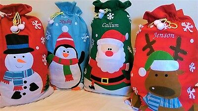 Personalised Embroidered Christmas Santa Sack. Gift Sack. Extra Large Xmas
