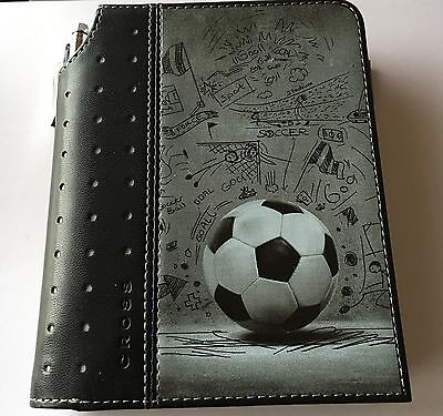 Genuine CROSS small Journal With Pen Black With Football Print One Time Only