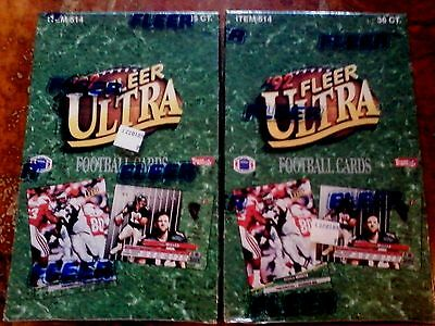 1992 Fleer Ultra Football Box. Montana,Elway,Marino Inserts Factory Sealed