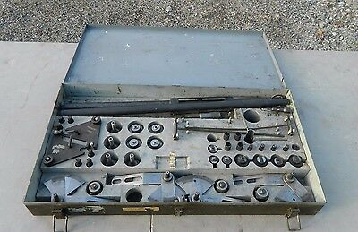 Old WWII ARMORED TANK TOOL REPAIR KIT & BOX specialized gauges and tools RARE