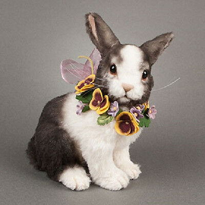 """R John Wright PANSY RABBIT with Secret Candy Container 7.5"""" Alpaca Plush - NEW!"""