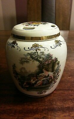 Vintage Lord Nelson Pottery Hand Crafted Ginger Jar . Made In England Since 1758