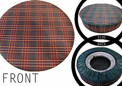 Green full Tartan Scooter wheel cover (Other colours)