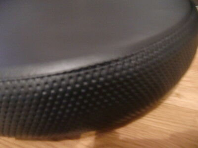 Plain Black with Basket Weave Bdr Scooter Wheel Cover