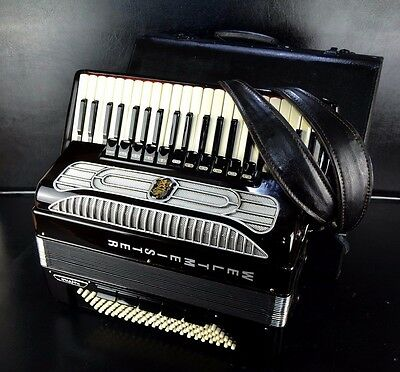 GERMAN TOP PRO ACCORDION WELTMEISTER SUPITA 120bass~DOUBLE TONE CHAMBER~CASSOTTO