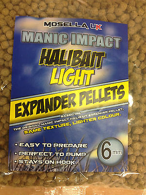 Brand New Mosella UK Manic Halibut Light Expander Pellets - All Sizes Available