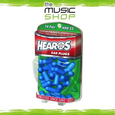 New 14x Pairs Hearos Xtreme Protection Ear Plugs - Original Formulation - HO5826