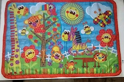 Playgro Jungle Friends Baby Play Mat excellent condition 100 x 70cm