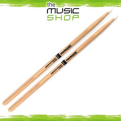 New Set of Promark Hickory 7A Drumsticks with Nylon Tips - TX7AN