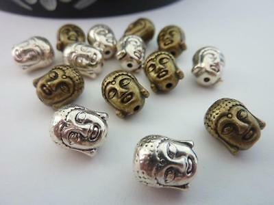 14 pce Metal Alloy Buddha Spacer Beads 9mm x 8mm Jewellery Making
