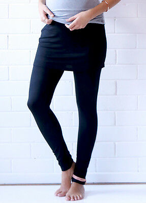 NEW - Trimester™ - Brooks Skirted Legging in Black - Maternity Leggings
