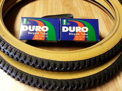 """Two GUM WALL 20x1.75/"""" BMX BIKE BICYCLE TRAILER JOGGER  TIRES /& TUBES"""