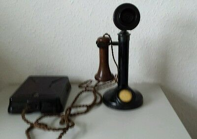 GPO Candlestick Telephone 150 and Bell Set No 25 . 1919