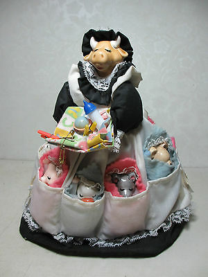 Vintage 1983 Nanny the Cow Tends the Barnyard Baby Animals Duck Bunny Pig & More