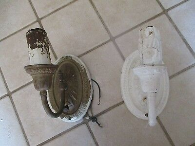 Antique Fancy Solid Brass Wall Sconce Set Light Fixtures