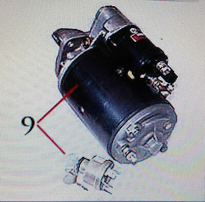 Case IH STARTER MOTOR KIT includes Keyswitch to upgrade Early Models