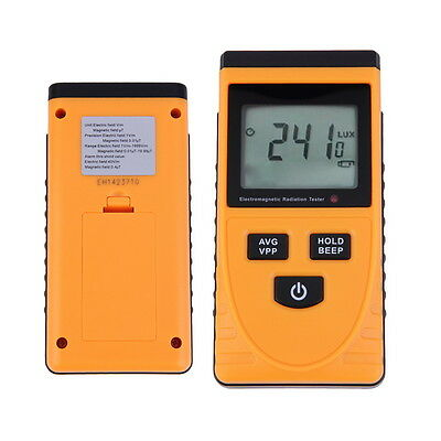 Digital LCD Electromagnetic Radiation Detector Meter Dosimeter Tester Counter E5