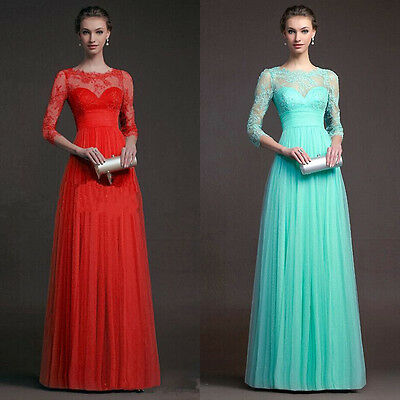 Lady Women Long Evening Party Ball Prom Gown Formal Bridesmaid Cocktail Dress