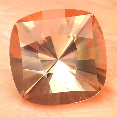 WALNUT PINK OREGON SUNSTONE 2.14Ct FLAWLESS-FOR JEWELRY-GERMAN FACETING-VIDEO