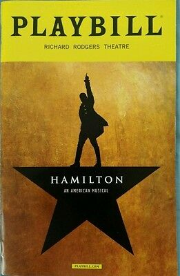 HAMILTON Playbill most popular play Broadway Rarest given out July 11-15  2016