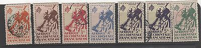 1945 FRENCH WEST AFRICA ( French Colony ) definitive issue x 7 stamps Used