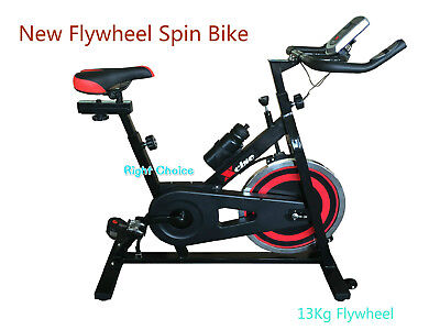 New Heavy Duty Commercial Spin Exercise Bike Pulse Monitor Fitness Homegym