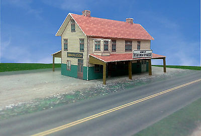 """N Scale Building - """"Orbisonia Station"""" Card Stock Paper Kit Pre-Cut"""