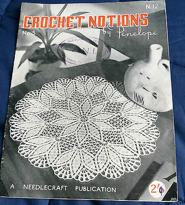 Crochet Notions by Penelope Book 3 vintage pattern