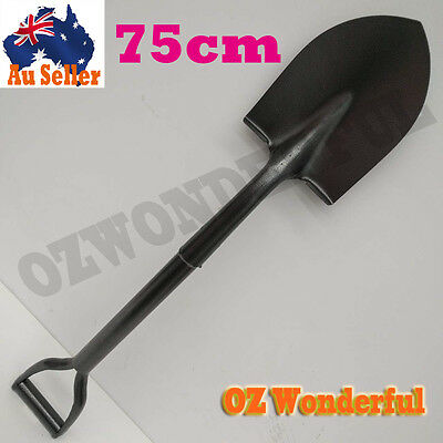 "75CM 29"" Spade Head Short Handle Iron Shovel  Farming Outdoor Garden Tool 12681"