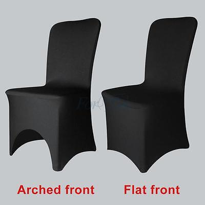 New 50/100pcs Black Spandex Lycra Chair Cover Wedding Banquet Party Two Species