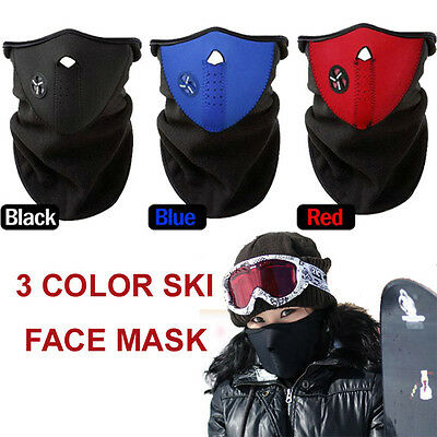 Outdoor Skiing MTB Winter Sports SKI Snowboard Thermal Face Ski Mask Neck AU