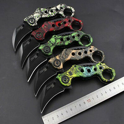 Outdoor Survival Tactical Folding Knife Hunting Camping Pocket Knife Blade Claw