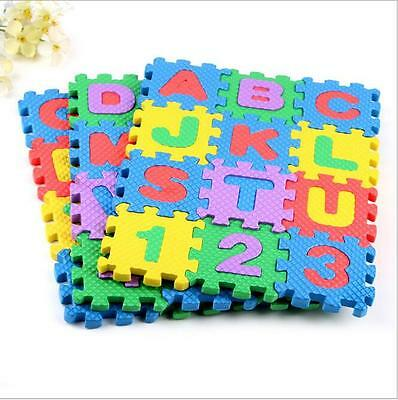 36-Pieces Puzzle Mat Learning ABC Alphabet Study Kids Letters Floor Play toy NEW